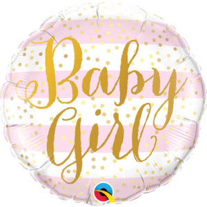 Balonul Balon folie baby girl, rotund