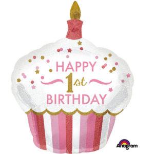 Balon cupcake 1st birthday