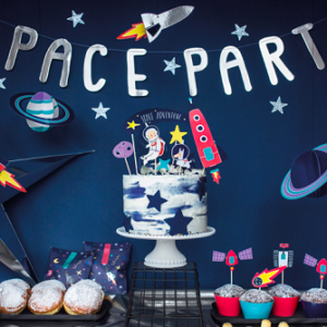 Banner space party