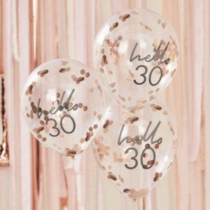 Baloane confeti hello 30