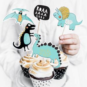 Decoratiuni cupcake dinozauri