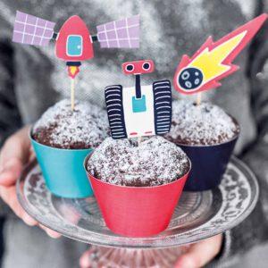 Decoratiune cupcake petrecere space
