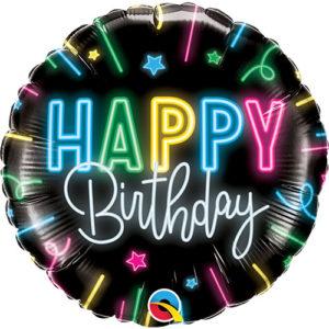 Balon Happy Birthday neon