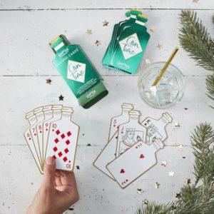 Carti de joc sticla gin