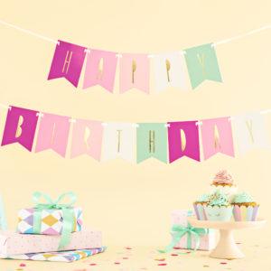 Ghirlanda stegulete happy birthday