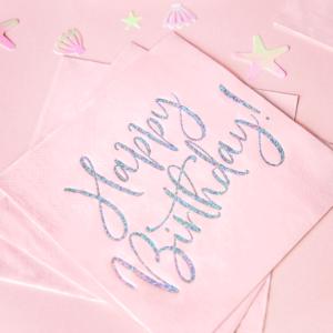 Servetele Happy Brithday roz