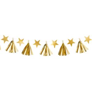 Ghirlanda franjuri si stele aurii