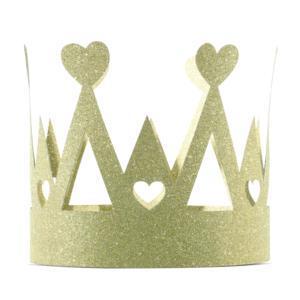 Coroana petrecere auriu cu sclipici