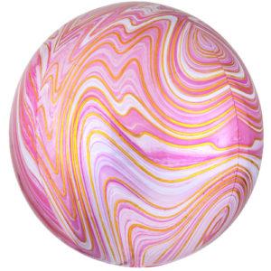 Balon folie Orbz Marblez roz