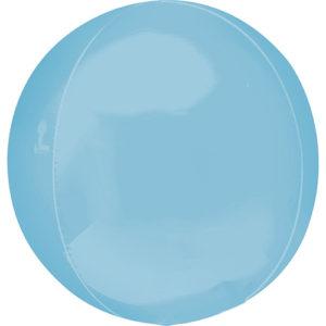 Balon folie Orbz bleu pastel