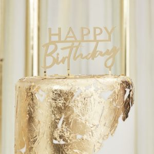 Cake topper happy birthday auriu