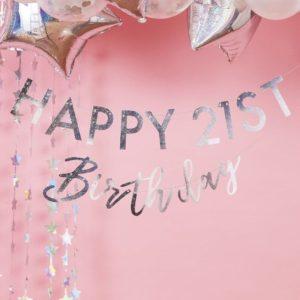 Ghirlanda Happy Birthday cifre personalizate