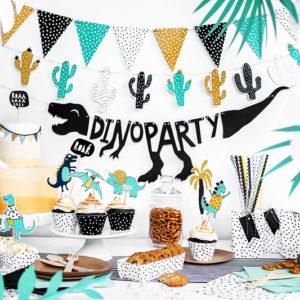 Ghirlanda cactusi petrecere dino