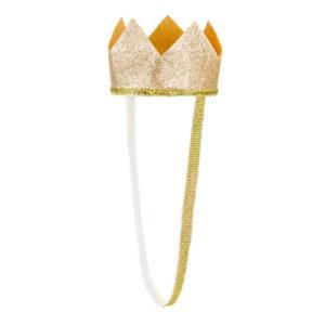 Coronita din textil auriu