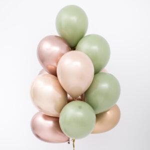 Buchet baloane heliu Sophisticated Olive