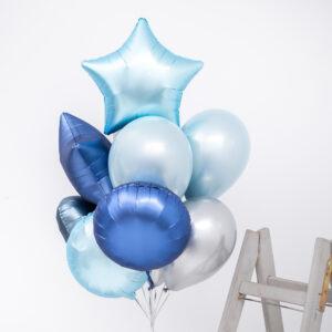 Buchet baloane heliu Ocean Breeze