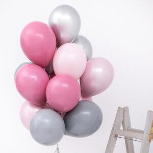 Buchet baloane heliu Feeling Romantic